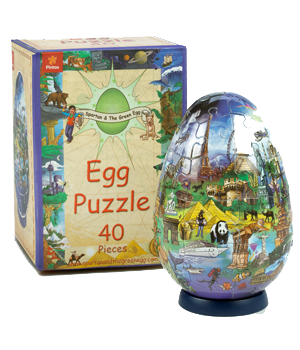 Egg Puzzle and box