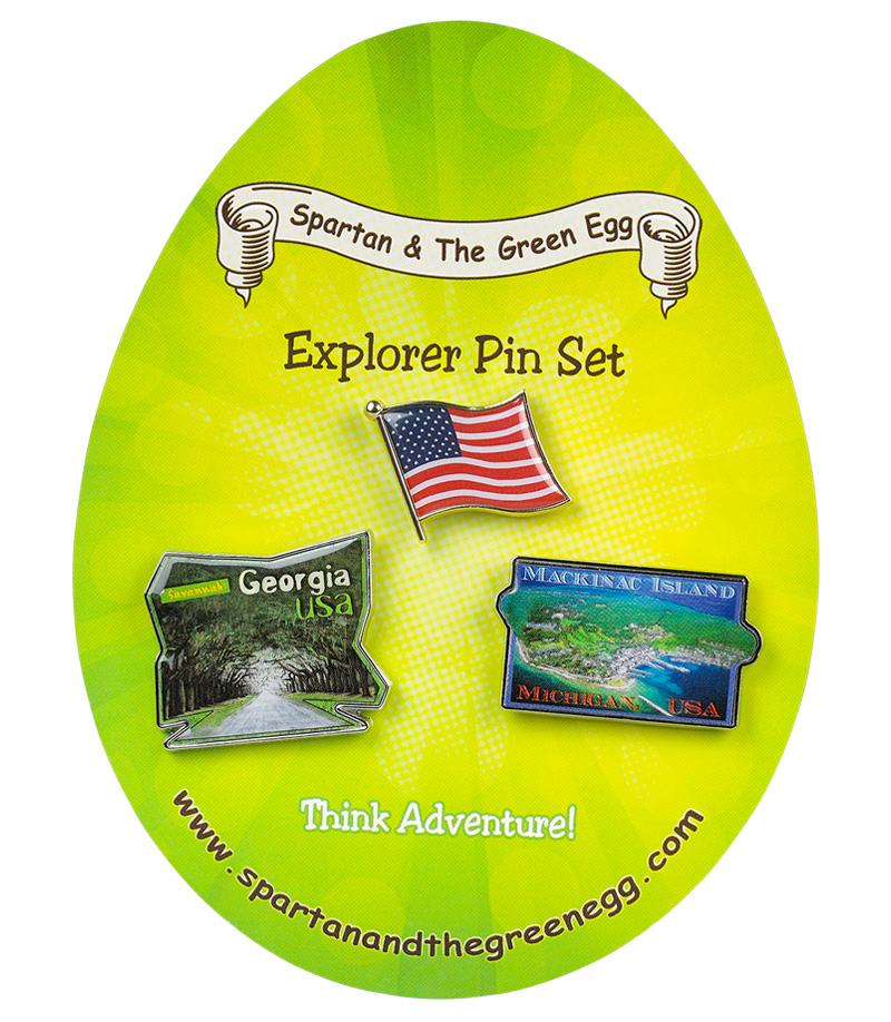USA pin set # 7